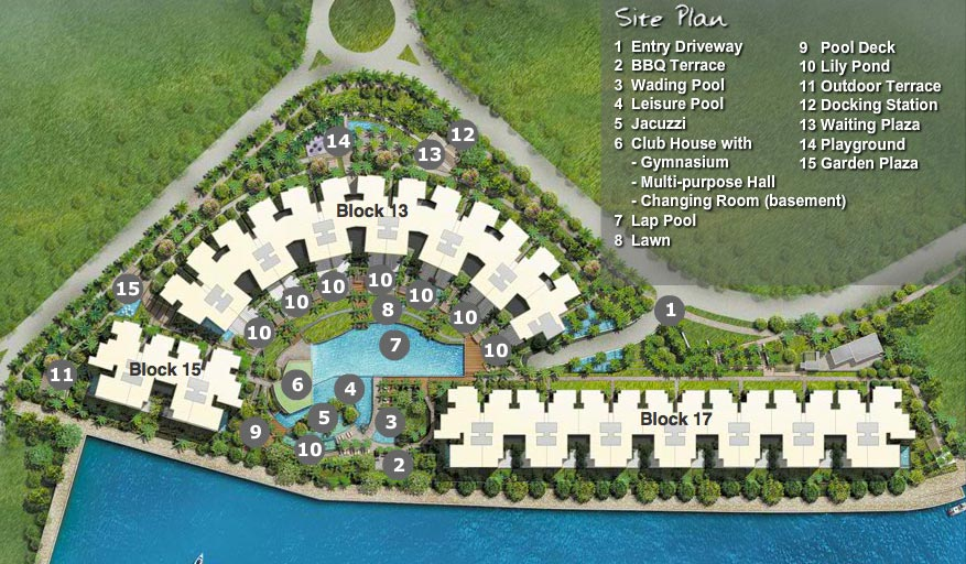 Marina collection site plan